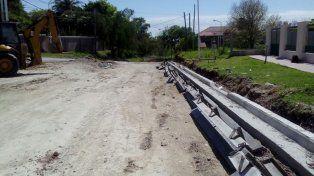 Avanzan las obras de pavimentación en el Thompson y Bajada Grande