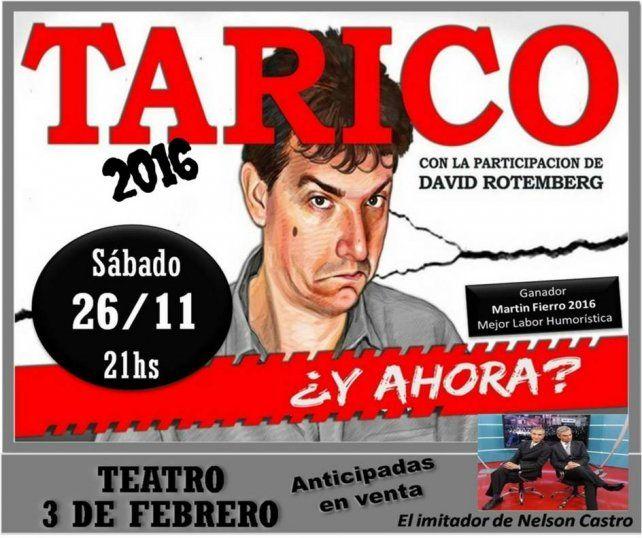 Diario UNO invita a ver el nuevo espectáculo de Ariel Tarico en Paraná