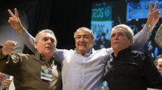 Juan Carlos Schmid, Héctor Daer y Carlos Acuña integran la conducción unificada de la central obrera.