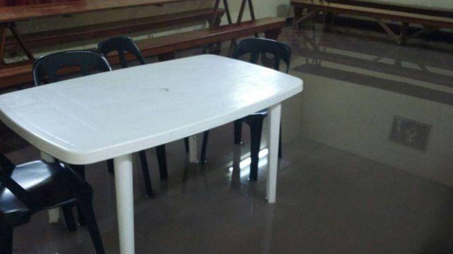 La escuela de El Ramblón se inundó y debieron suspender las clases