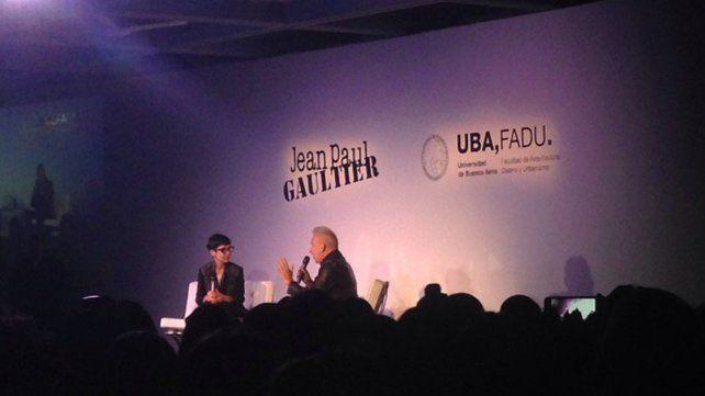 Jean Paul Gaultier realizó un masterclass hoy en Buenos Aires
