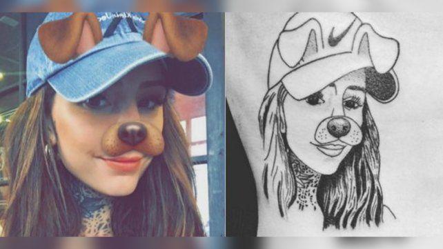 Un fanático se tatuó la cara de Cande Tinelli: mirá la reacción de ella
