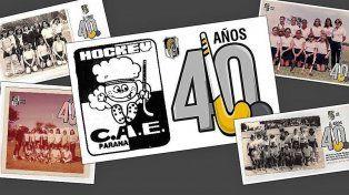 El hockey sobre césped albinegro cumple 40 años de pasión