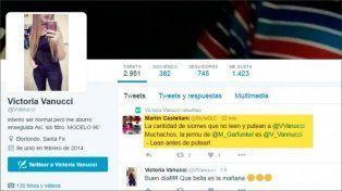 La confundieron con Victoria Vannucci en Twitter y no para de recibir insultos