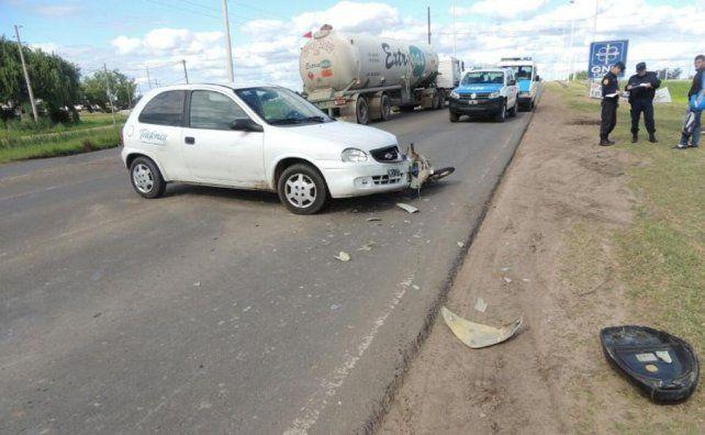Fuerte choque en la ruta 39 dejó dos motociclistas heridos