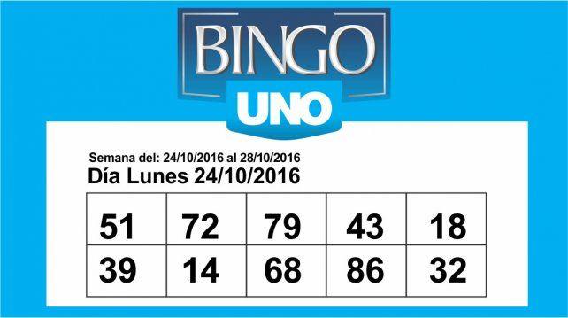 Bingo UNO: Estos son los números