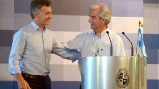 Mauricio Macri y Tabaré Vázquez.