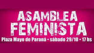 Convocan a una asamblea feminista el sábado en Paraná