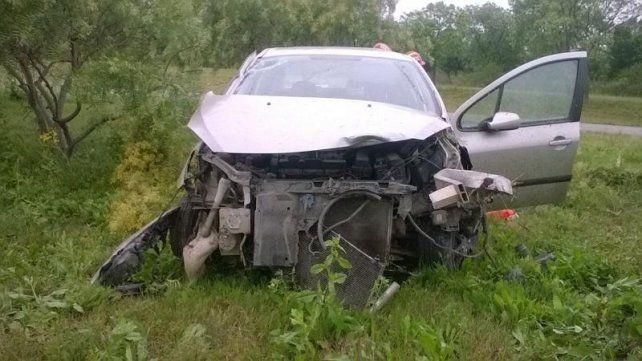Despiste y un herido en la autovía 14