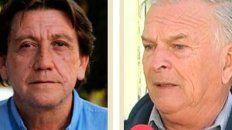 Sergio Saavedra del Sindicato de remiseros y Eduardo Jacob de la Cámara de taxistas.