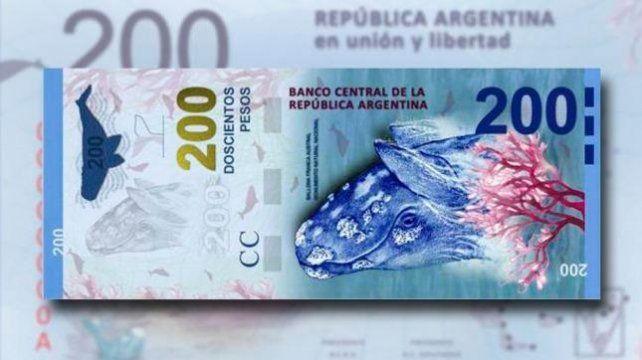Presentan nuevo billete de 200 pesos en Puerto Madryn