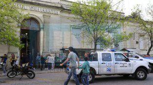 El hombre fue trasladado al hospital San Martín