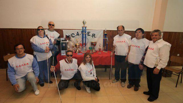 Todos juntos los bochófilos y guías que participaron de la competencia nacional.