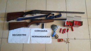 Allanan una casa por violencia de género y hallan armas y municiones