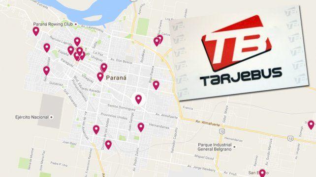 ¿Dónde cargar la Tarjebús en Paraná?