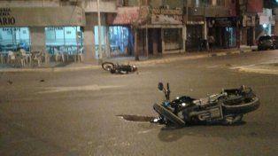 Chocaron dos motos y uno de los conductores sufrió lesiones graves