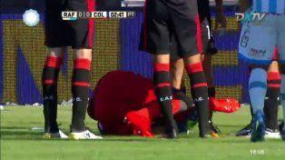La impactante lesión del arquero de Colón