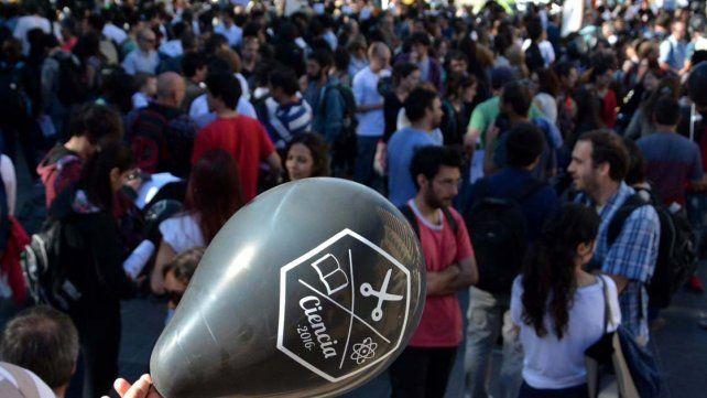 Protestas. La semana que pasó se movilizaron universitarios y científicos de todo el país.