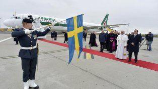 El papa Francisco conmemora en Suecia los 500 años de la reforma de Lutero