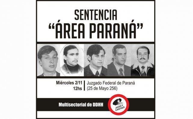 Área Paraná: Multisectorial de DD.HH hará radio abierta frente a la Cámara Federal de Apelaciones