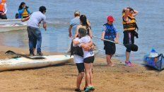 Los alumnos, junto a padres y docentes, surcaron el río Paraná.