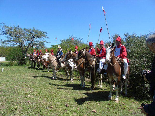 En Rocamora se reprodujo el Campamento Calá, una base militar de Urquiza
