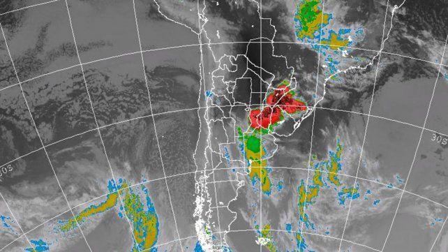 Rige un alerta por tormentas fuertes para Entre Ríos y nueve provincias