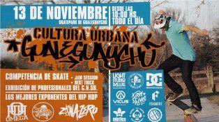 Campeonato de skate mixturado con la cultura urbana de Gualeguaychú