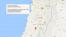 terremoto de 6,4 grados richter sacudio la zona central de chile