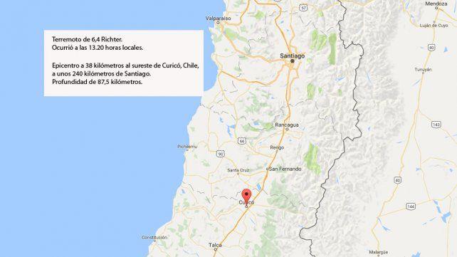 Terremoto de 6,4 grados Richter sacudió la zona central de Chile