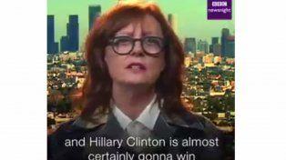 Susan Sarandon, sobre por qué no apoya a Clinton: No voto con mi vagina