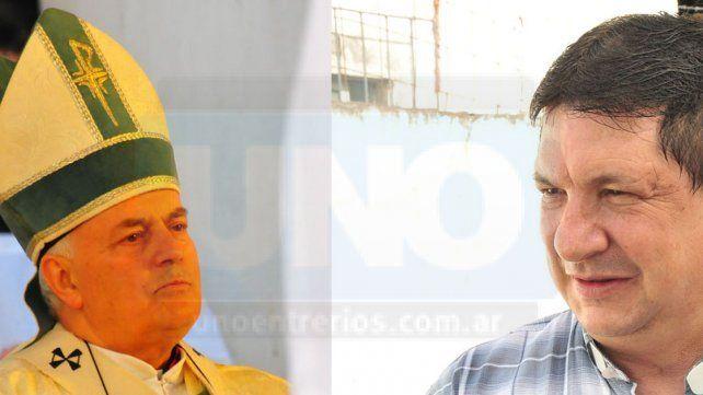 Repercusión oficial. El obispo de Paraná pidió disculpas por el comportamiento de Escobar Gaviria.