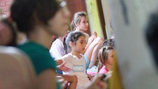 La escuela Larrisa tiene el gran valor de ser pública y gratuita. FotoUNOJuan Ignacio Pereira.