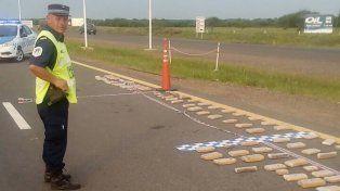 Secuestraron más de 100 kilos de marihuana en la autovía Artigas