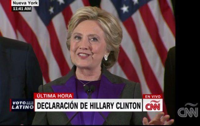 Habló Hillary Clinton después de la derrota