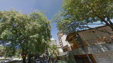 Las tipas de calle Córdoba sobre la plaza Carbó. Fotoinstantstreetview.