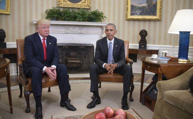 Obama y Trump se reunieron en medio de un clima de tensión