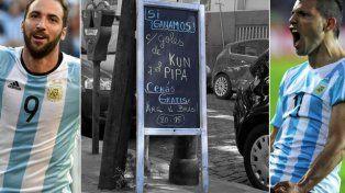 Un restaurante prometió pagar la cena a sus clientes si Argentina gana con goles de Higuaín y Agüero