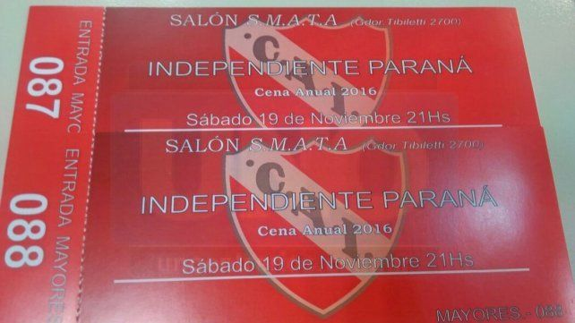 Federico Borgobello y Lucía Leguiza los ganadores de las entradas para la cena anual de Independiente Paraná