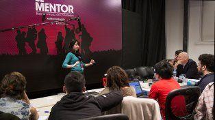 En acción. Eliana Digiovani en pleno proceso de producción de su documental