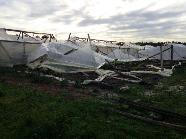 El gobierno provincial asiste a las localidades afectadas por el fuerte temporal