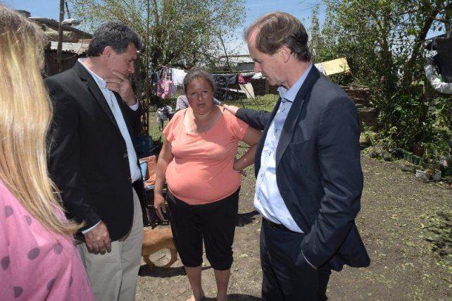 Bordet recorrió zonas afectadas por el temporal y prometió ayuda urgente