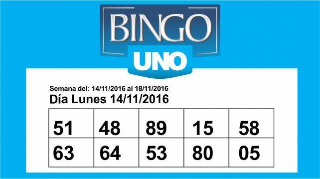 Consultá los números de Bingo UNO