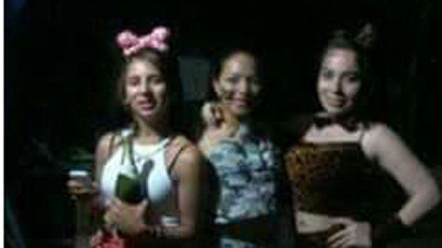 Las tres jóvenes que estuvieron desaparecidas.