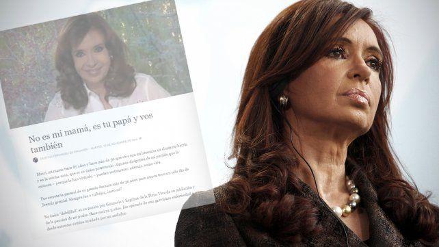 Dura carta de Cristina a Macri: No es mi mamá, es tu papá y vos también