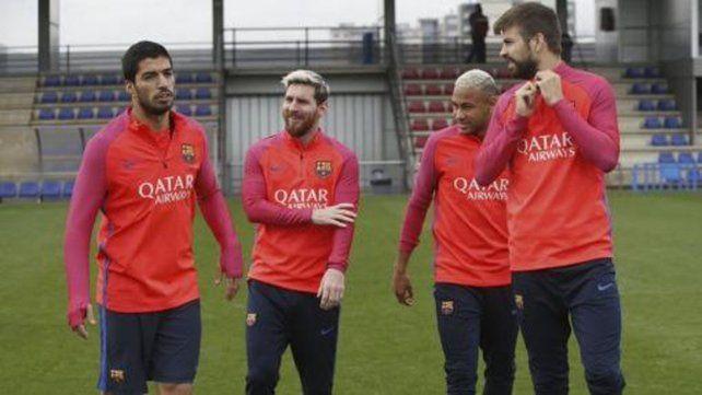 Messi y Mascherano se reincorporaron a los entrenamientos del Barcelona