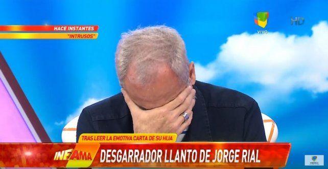El llanto desgarrador de Jorge Rial en vivo