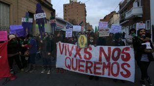 Marcha en contra de la violencia de género en Paraná. (Archivo)