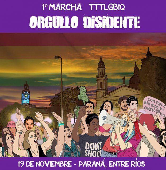Se realiza en Paraná la primera Marcha del Orgullo Disidente