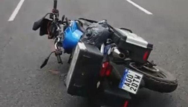Marcos Di Palma tuvo un accidente de moto en la Panamericana